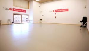 Sala de ensayos del Centro Danza Canal